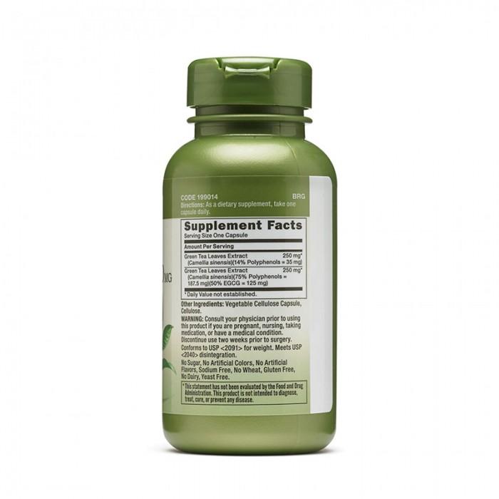 Complex de ceai verde 500 mg (100 capsule), GNC Herbal Plus