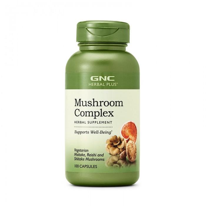 Complex de ciuperci - Reishi, Shitake, Maitake (100 capsule), GNC Herbal Plus