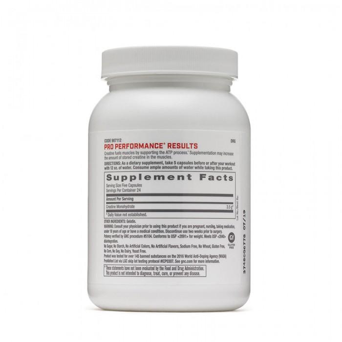 Creatina monohidrata 3500 mg (120 capsule), GNC Pro Performance