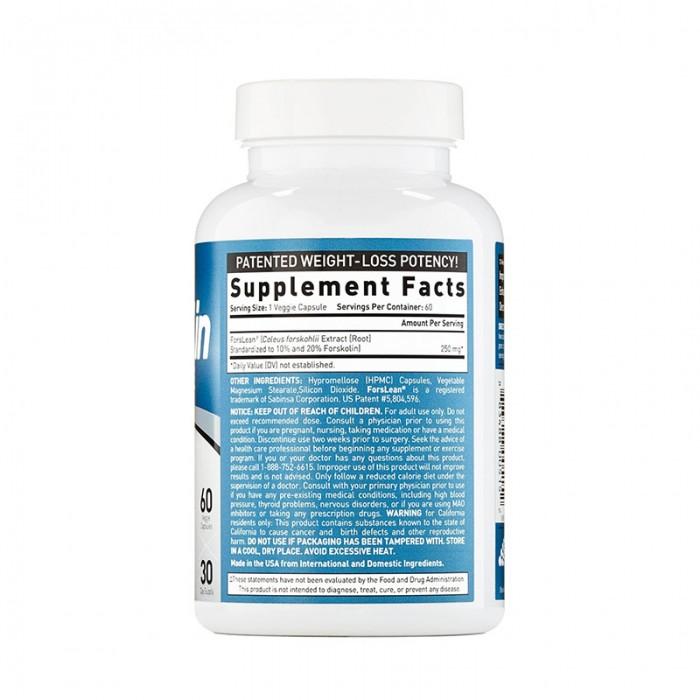 Forskohlin Lean & Tone Formula pentru slabire si tonifiere (60 capsule), GNC BioGenetic Laboratories