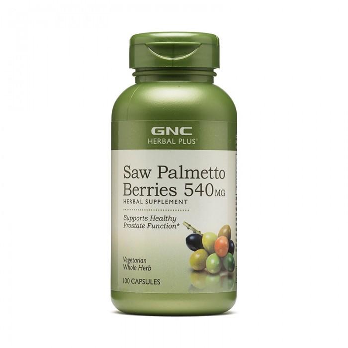 Fructe de palmier pitic 540 mg (100 capsule), GNC Herbal Plus