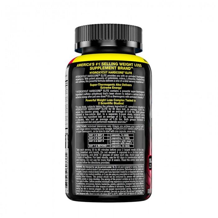 Hydroxycut Hardcore Elite (100 capsule), GNC MuscleTech