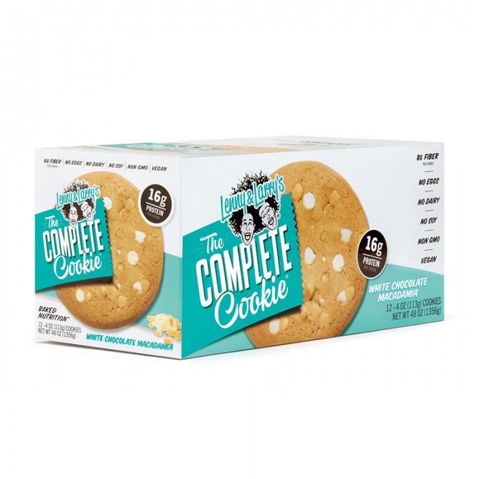 The Complete Cookie Biscuit proteic vegan cu ciocolata alba si nuci de macadamia (113 grame), GNC Lenny & Larry's