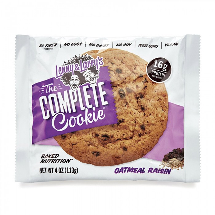 The Complete Cookie Biscuit proteic vegan cu aroma de stafide si ovaz (113 grame), GNC Lenny & Larry's