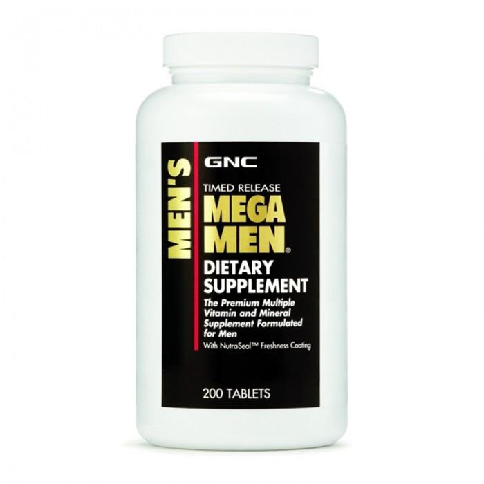 Men's Mega Men Complex de multivitamine (200 capsule), GNC