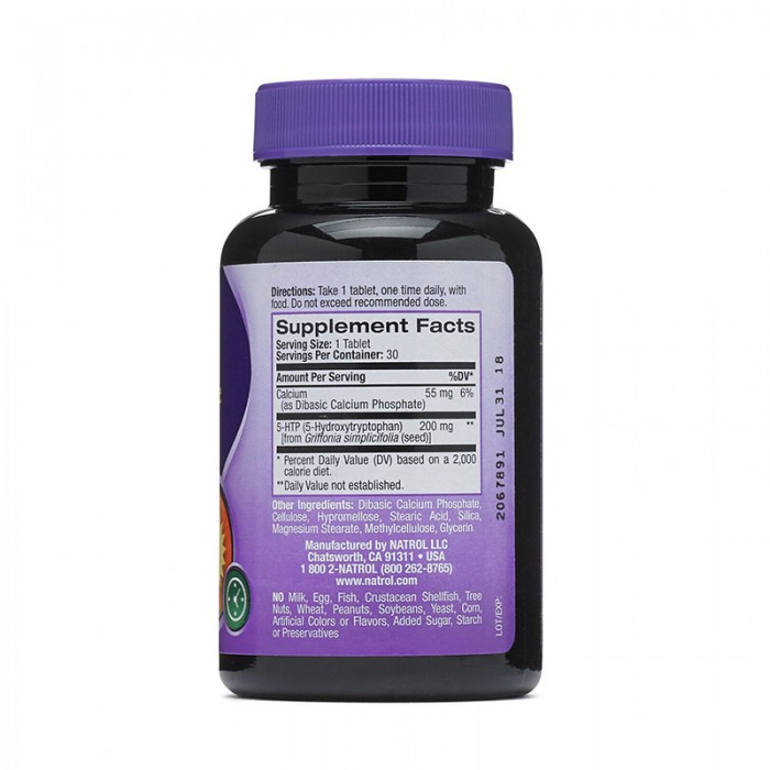 Natrol 5-HTP Mood & Stress 200 mg (30 tablete), GNC