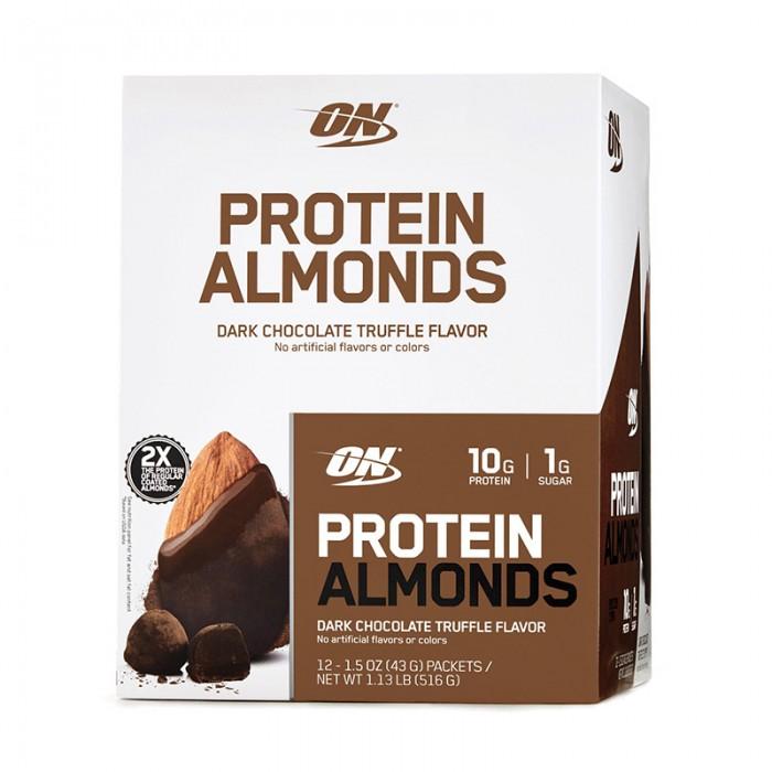 Migdale proteice cu aroma de ciocolata neagrasi trufe (43 grame), GNC Optimum Nutrition