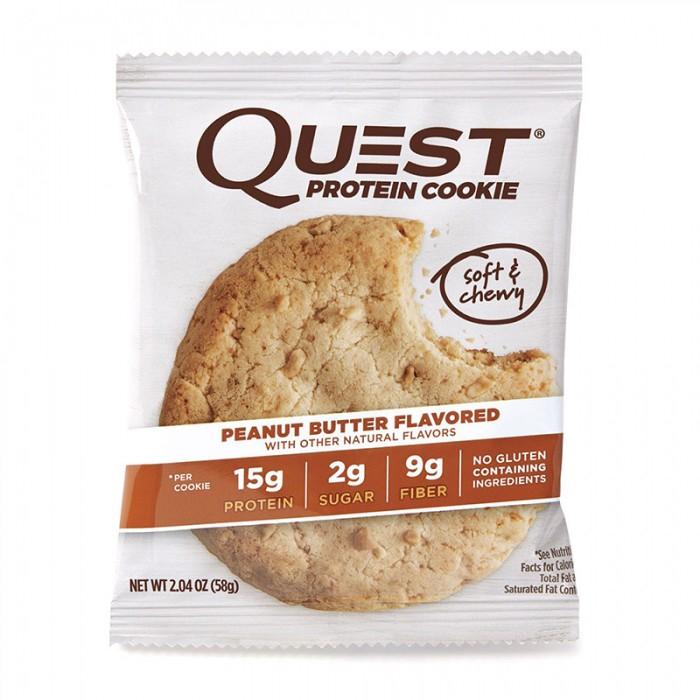 Quest Biscuit proteic cu aroma de unt de arahide (58 grame), GNC
