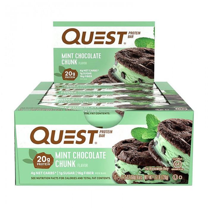 Quest Baton proteic cu aroma de ciocolata si menta (60 grame), GNC