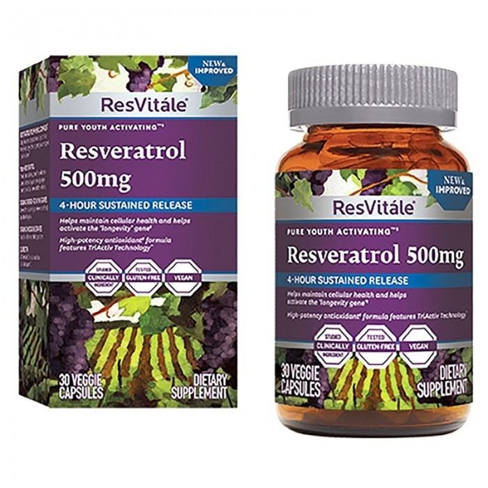 Resveratrol 500 mg (30 capsule), GNC ResVitale