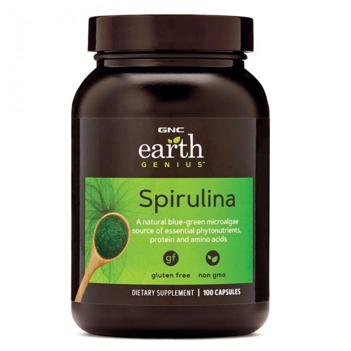 Spirulina 500 mg (100 capsule), GNC Earth Genius