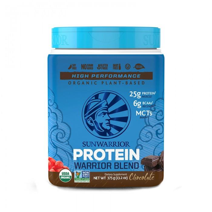 SunWarrior Proteina vegetala organica cu aroma de ciocolata (375 grame), GNC