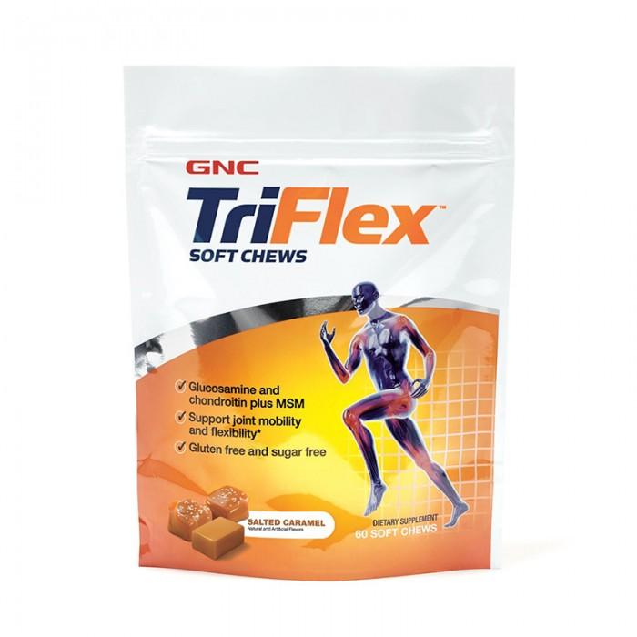 Triflex Caramele cu aroma de caramel sarat (60 caramele), GNC