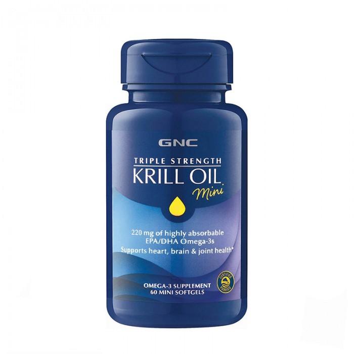 Triple Strength Ulei de Krill (60 mini capsule), GNC