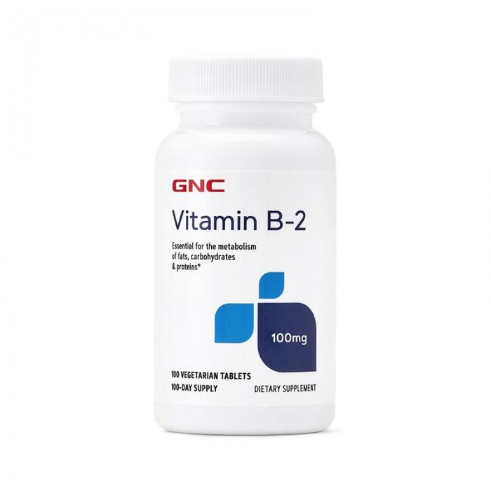 Vitamina B-2 100 mg (100 tablete vegetale), GNC