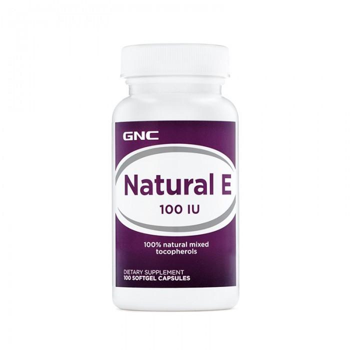Vitamina E naturala 100 UI (100 capsule), GNC