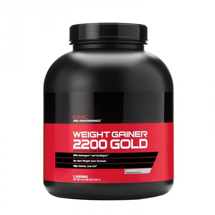 Weight Gainer 2200 Gold cu aroma de vanilie (2727 grame), GNC Pro Performance