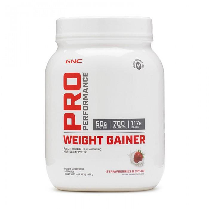 Weight Gainer cu aroma de capsuni (1098 grame), GNC Pro Performance
