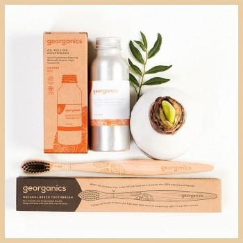 Duo zero waste - Orange ulei + periuta, Georganics