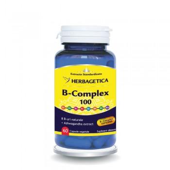 B Complex 100 (60 capsule), Herbagetica