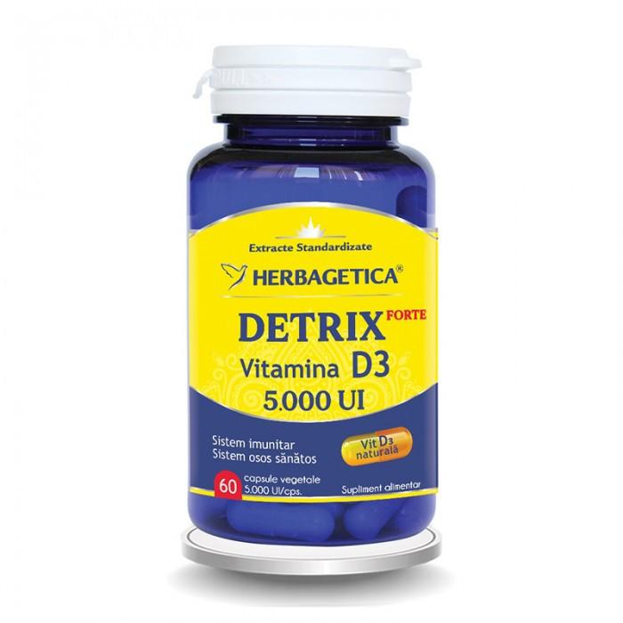 Detrix Forte Vitamina D3 5000 UI (60 capsule), Herbagetica