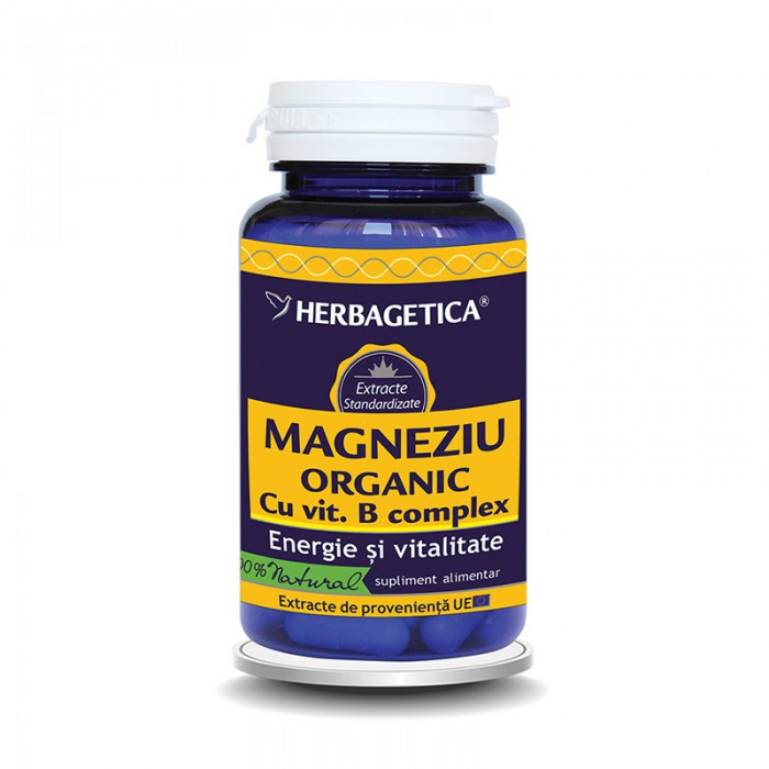 Magneziu Organic (30 capsule), Herbagetica