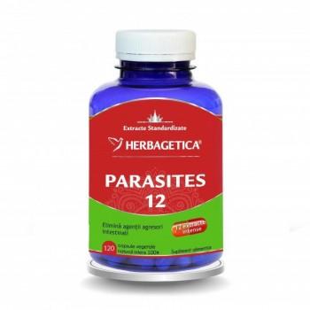 Parasites 12 Detox Forte (120 capsule), Herbagetica