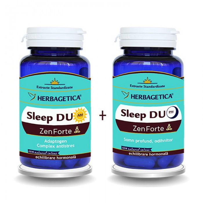 Sleep Duo AM/PM  (120 capsule + 120 capsule), Herbagetica