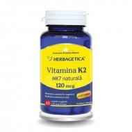 Vitamina K2 MK7 Naturala 120 mcg (60 capsule), Herbagetica