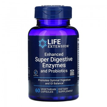 Enhanced Super Digestive Enzymes cu Probiotice (60 capsule), LifeExtension