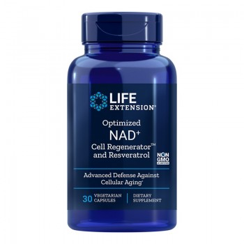 NAD+ Cell Regenerator si Resveratrol 300 mg (30 capsule), LifeExtension