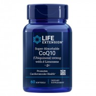 Super-Absorbable CoQ10 (Ubiquinone) cu d-Limonene (60 capsule), LifeExtension