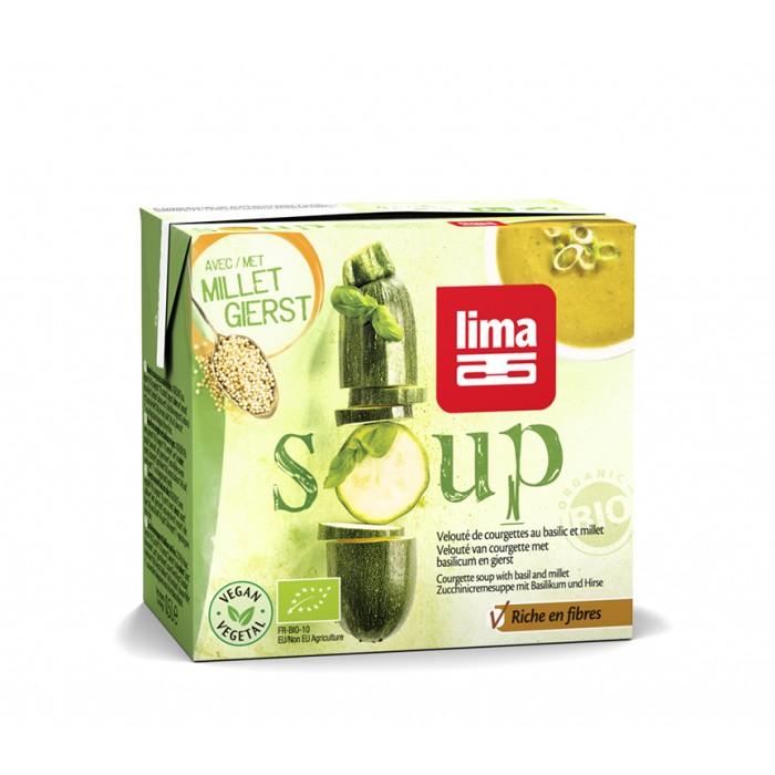 Supa crema de dovlecei cu busuioc si mei bio (500 ml), Lima