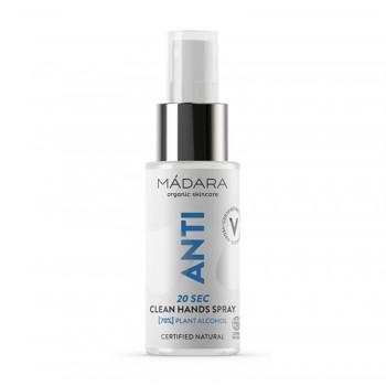 Anti 20 Sec Clean Hands Spray igienizant (70% alcool) (50 ml), Madara