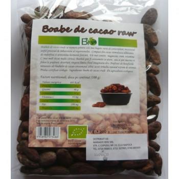 Boabe de cacao bio crude (Peru) (200 grame)