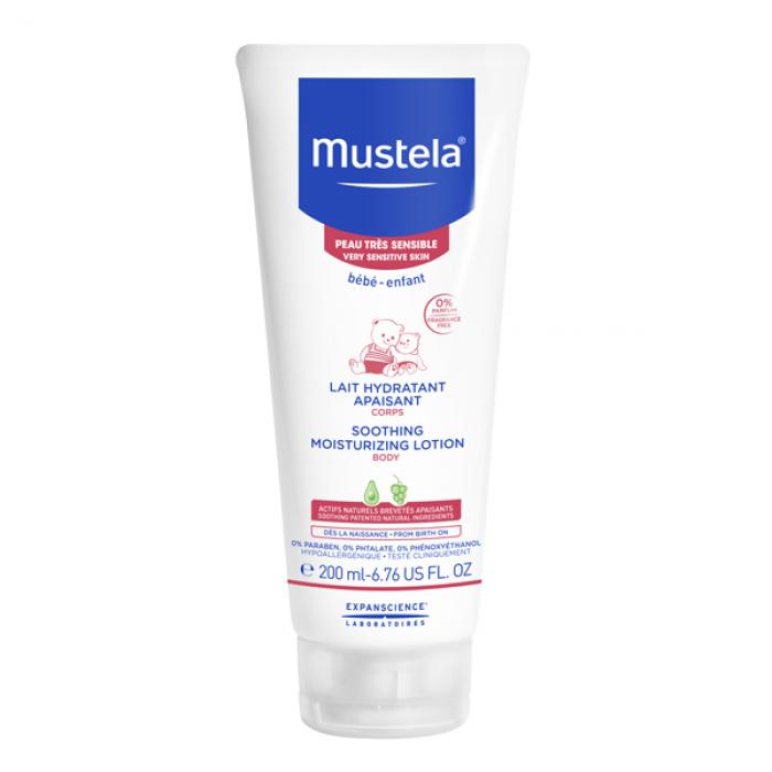 Lapte hidratant calmant pentru piele sensibila (200 ml), Mustela