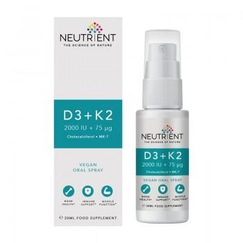 D3+K2 2000UI Vegan Oral Spray (20 ml), Neutrient