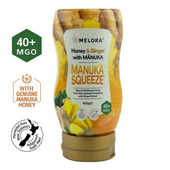 Miere din flora salbatica a Noii Zeelande cu miere de Manuka MGO 40+ si extract de ghimbir Melora (400 grame), New Zealand Manuka Group