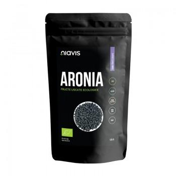 Aronia fructe uscate RAW ecologice (125 grame), Niavis