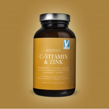 Vitamina C si Zinc Vegan (100 capsule), Nordbo