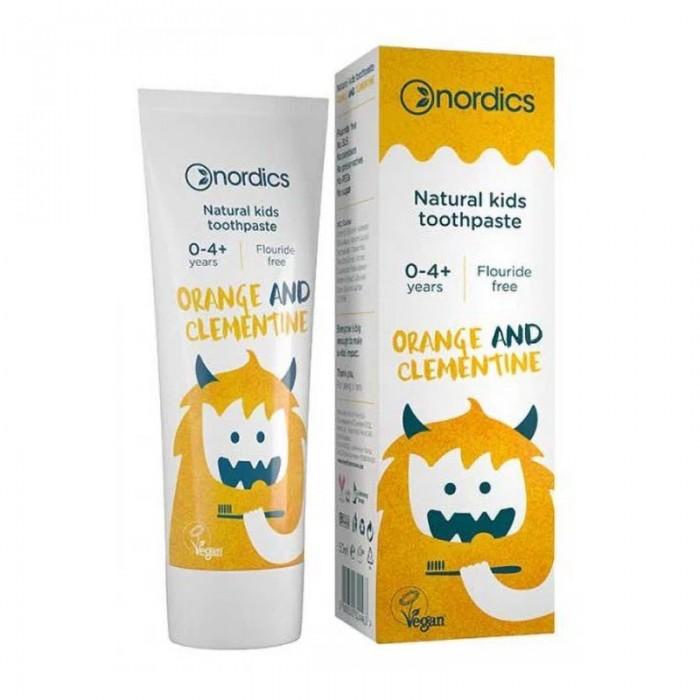 Pasta de dinti naturala pentru copii cu portocale si clementine (50 ml), Nordics