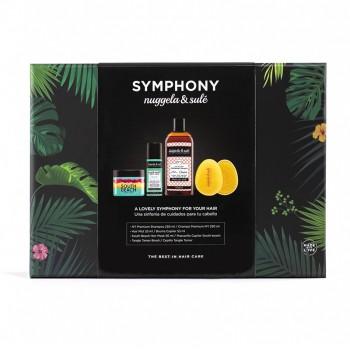 Pachet Symphony - Sampon Premium No1, Masca South Beach, Mist pentru par, Perie Tangle Tamer, Nuggela & Sule