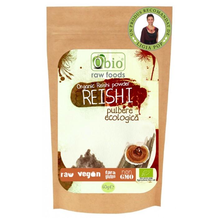 Reishi pulbere raw (60 grame)