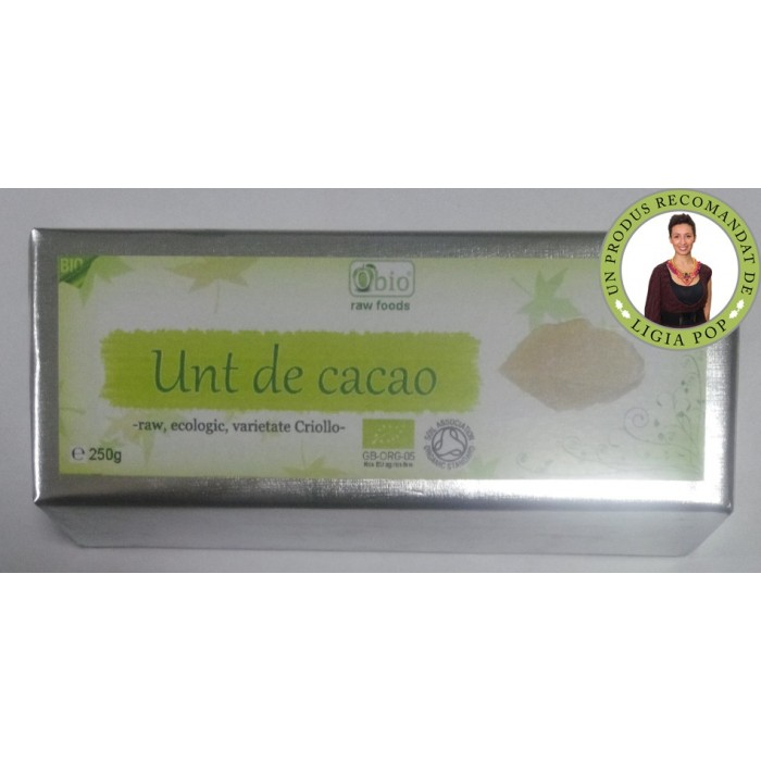 Unt de cacao raw criollo bio (250g)
