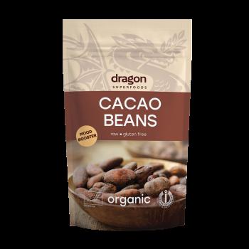 Boabe de cacao intregi criollo bio (200 g), Dragon Superfoods