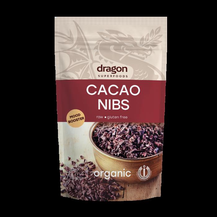 Miez din boabe de cacao criollo bio (200 grame), Dragon Superfoods