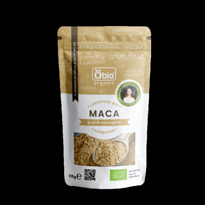 Maca pudra raw bio (125 grame)