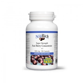 Acai Berry Pomisoare Braziliene 500 mg (90 capsule), Natural Factors