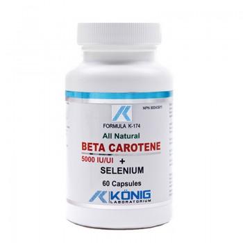 Beta Caroten cu Seleniu (60 capsule), Konig Laboratorium
