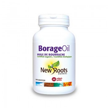 Borage Oil Pur 1000 mg (60 capsule), New Roots
